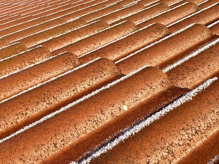 Rooftop View  Roof Tile Roof Full Frame Pattern Backgrounds Land High Angle View No People Day Nature Brown Sand Sunlight Textured  Outdoors Landscape Track And Field Close-up In A Row Beauty In Nature Field Sports Track 17.62°