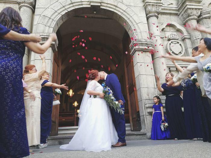 Wedding Bride Celebration Wedding Dress Adult Togetherness Women