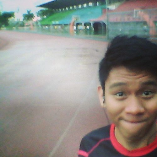 Wet late jogging after service :) Letsburn GetFit Keepinshape