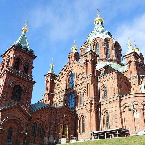 我在赫爾辛基,8℃,天氣晴。 BalticFerryTrip Sunnyday Helsinki UspenskiCathedral Day3