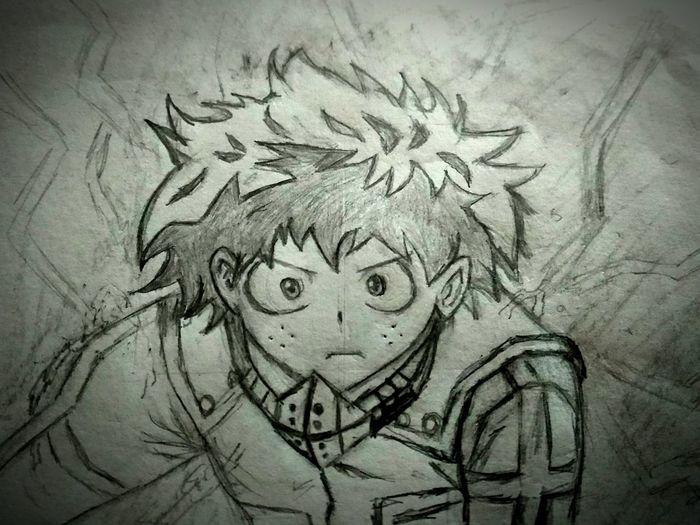 midoriya Sketch Doing Some My Hero Academia Close-up