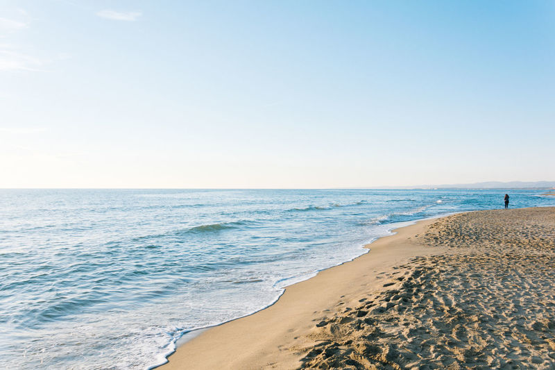 Autumnal waves Beach Beauty In Nature Blue Clear Sky Day Horizon Over Water Idyllic Nature Nikonphotography No People Outdoors Sand Scenics Sea Sky Tranquil Scene Tranquility Travel Destinations Vscofilm Water