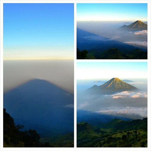 The shadow of sumbing mountain Shadow Sumbing Landscape Masihdiindonesia instagallery justgoshoot greatview greatshot