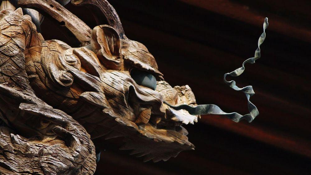 Temple Nara World Heritage 法隆寺 (Horyuji Temple) Japan Japan Photography Wood History Dragon