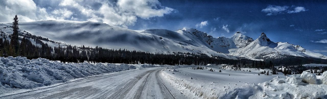 Columbia Icefield Icefields Parkway Jasper National Park Snow Beauty In Nature Tranquility Outdoors Cloud - Sky Mountain Scenics Landscape Nature Winter No People