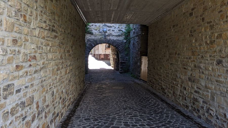 View of an empty tunnel