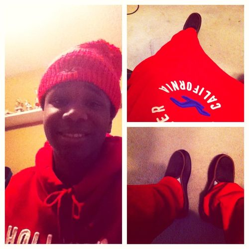 All Red Hollister Suit!! Icey!!