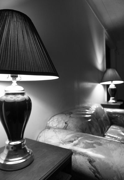 2 lamps, near and far. Projectaz Lamps 365 Photoproject Living Room Day12 Black And White