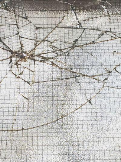 Smashed safety glass. Glass Smash  Smashed Destruction Vandalism Broken Train Station Town Old Buildings Old Town