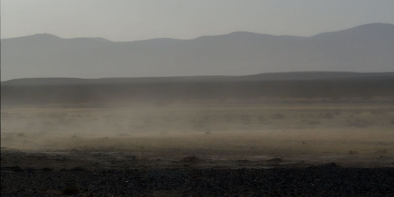 Sandstorm in the Namib Desert rolling in Namib Desert Nikon D500 Arid Climate Beauty In Nature Day Fog Hot Spring Landscape Mountain Mountain Range Nature No People Outdoors Scenics Sky Steam Tranquil Scene Tranquility