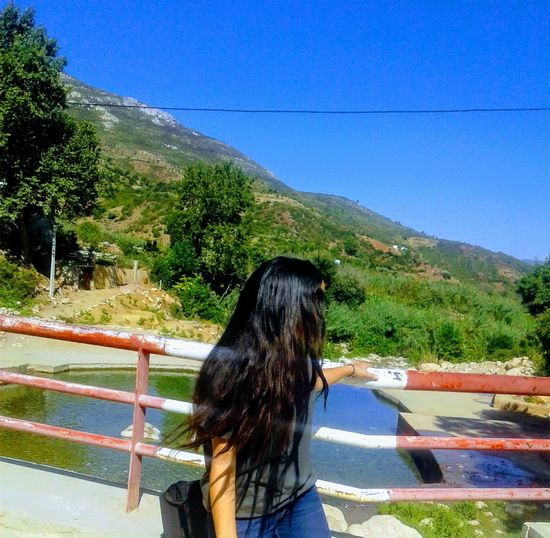 An Eye For Travel Tetouan The White City Traveling Trees Blue Sky Bouanane Morocco Clear Sky Day Lake View Moroccanforest Moroccangirl Mountain Nature Outdoors Photography Young Adult Zerqa Morocco