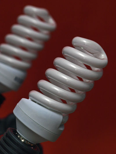 Close-up of daylight bulb studio