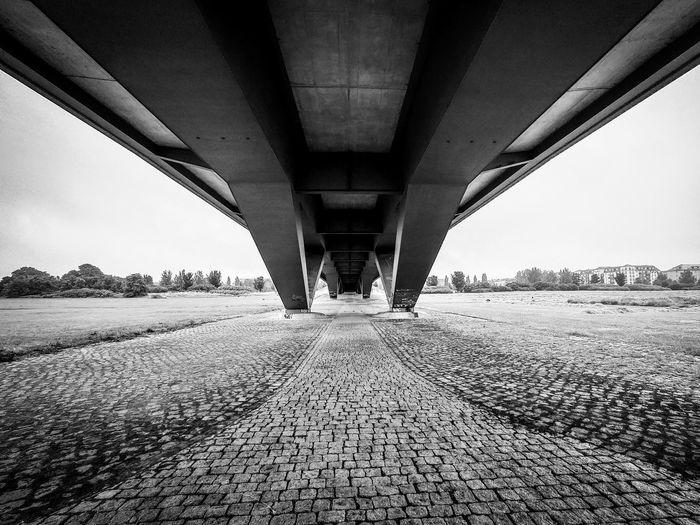 View of bridge over empty road