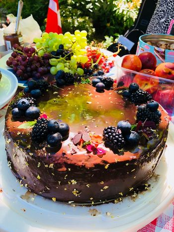 😍🍰 the winner Fruit Food Food And Drink Healthy Eating Sweet Food Freshness Cake Indulgence Blackberry - Fruit Baked No People Temptation Multi Colored Dessert Close-up High Angle View Berry Fruit Sweet Blueberry