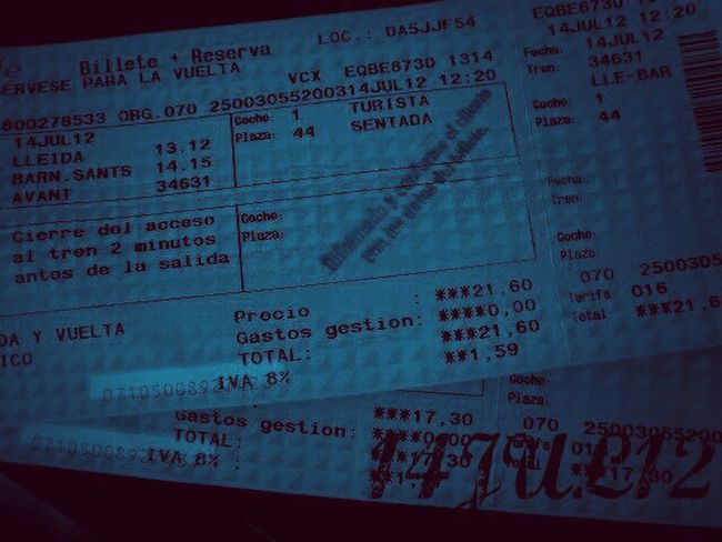 Travelling Train Tickets Non Stop  No Return  New Step One Date, Million Memories...