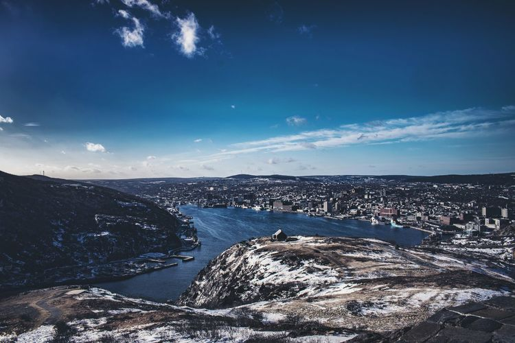 Sky Outdoors East Coast Newfoundland Photography NLWX Nature Landscape Architecture Cold Temperature Winter Snow St. John's, NL Horizon Over Water