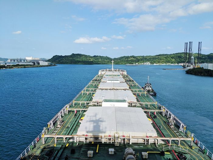 Nautical Theme Cargo Ship Life Onboard Waves Water Sea High Angle View Sky Architecture Harbor Nautical Vessel Pier Water Vehicle Port Ship