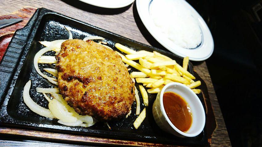昼ごはん Lunch ハンバーグ Hamburger Steak