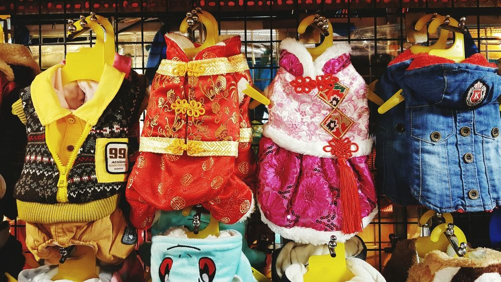 Retail  Hanging Store Variation Small Business For Sale Market No People Outdoors Night Pet Doggy Dog Clothes Pet Clothes Chinese Culture Taiwan Culture Chinese New Year Traditional Culture Chinese Traditional Culture
