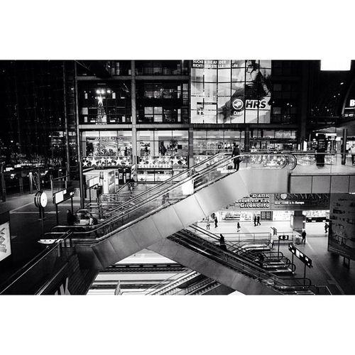 Berlin Hauptbahnhof by night. Travel Travelphotography Vscocam Ricohgr blackandwhite