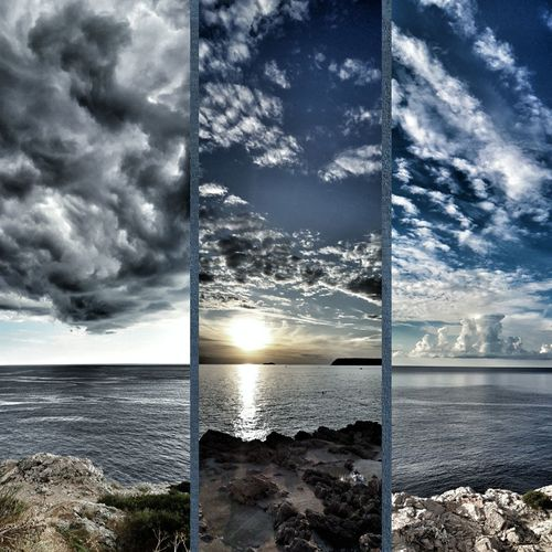 Sea Cloud - Sky Horizon Over Water Sky Scenics No People Nature Water Beauty In Nature Sunlight Outdoors Day Sunset Beach Landscape Horizon View Nature Panoramic Landscape Adventure Tranquility Cloud_collection  Hikingphotography Blue Beauty Beauty In Nature