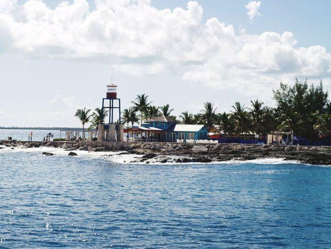 Water Sky Cloud - Sky Outdoors Sea Day No People Rollercoaster Tree Nature Amusement Park Bahamas Caribbean Nassau, Bahamas