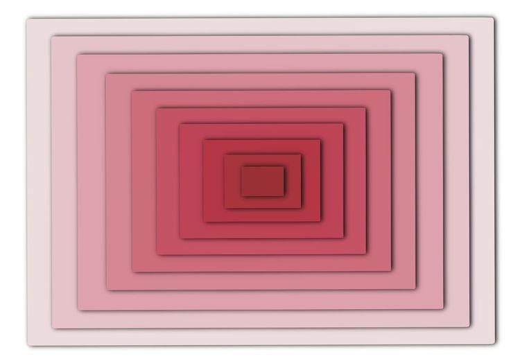 Directly below shot of spiral box