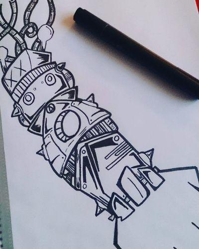 Drawingoftheday Draw Drawing Drawing Drawingaday ArtWork Art Artist Arts Artistsoninstagram Artistic Picture Picoftheday Pic Mechanical Bras Black White Robot