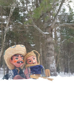 Hanging out in the snow Copy Space Surreal Friendship Love Best Friends Lovers International Backgrounds Simple Background Companionship