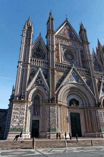 Orvieto, Italy Travel Travel Photography Traveling Architecture Building Exterior Built Structure Day Façade History Italian Italy Men Orvieto Outdoors People Place Of Worship Real People Religion Sky Spirituality Travel Destinations