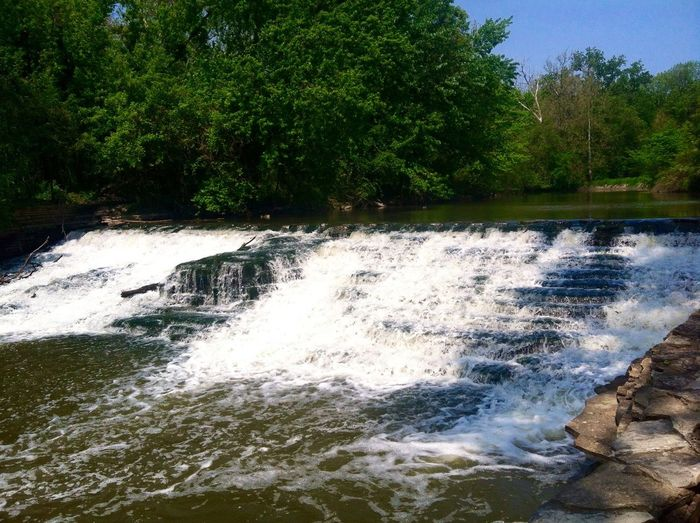 Taken in the summer time. Dearborn Nature Outdoors Power In Nature Summer Tranquil Scene Travel Tree Water Waterfall