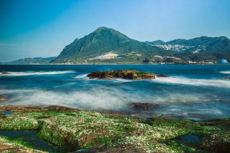 Blue Sky Day Landscape Long Exposure Mountain Outdoors Sea Sky