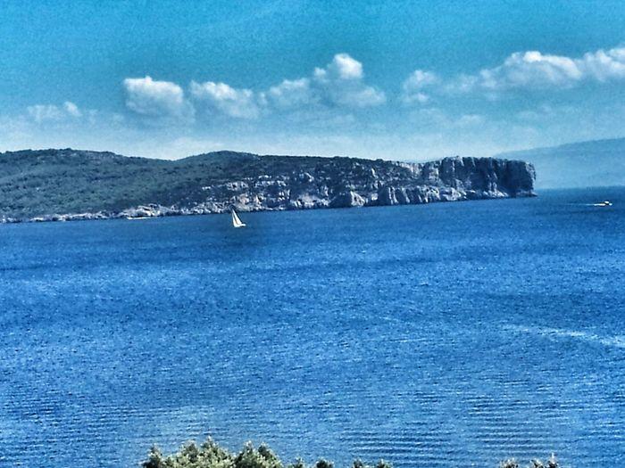 Blue Sky No People Scenics Sea Nature Landscape Horizon Over Water Panoramic Seascape Horizon Panoramic Views Panoramic Landscape Relax Sardinia Peaceful Panoramic Tranquil Scene Tranquility Seascape Nature Blue Relaxing Sailing Boat Sailing Sardinia Sardegna Italy
