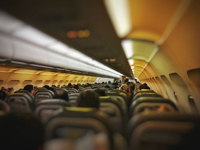 Jetting Vueling Cabin Airbus A320 A320 Rome Fiumicino Indoors  Public Transportation Subway Train Commuter