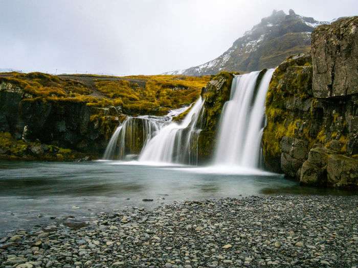 Water Long Exposure Waterfall Beauty In Nature Scenics - Nature Motion Flowing Water Blurred Motion Environment Nature Sky Rock Mountain No People Land Rock - Object Power Solid Power In Nature Outdoors Flowing Falling Water Iceland_collection Iceland