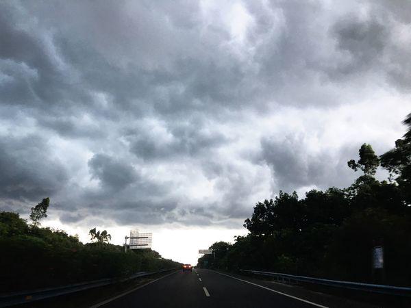 Road The Way Forward Tree Transportation Cloud - Sky Sky Dramatic Sky