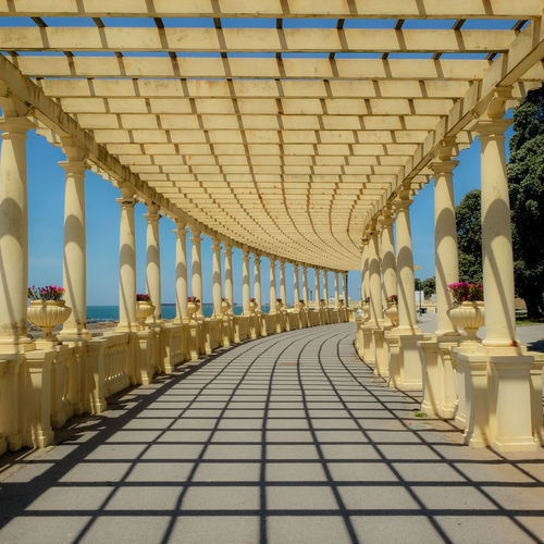 1 Architecture Built Structure Column Diminishing Perspective EyeEm EyeEm Best Shots EyeEm Gallery EyeEmBestPics In A Row Outdoors Sunlight The Way Forward Travel Destinations Vanishing Point