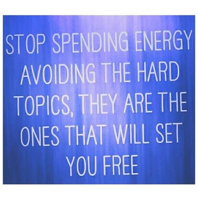 Stop spending Energy avoiding the hard topics, they are the ones that will Setyoufree SeanKnows