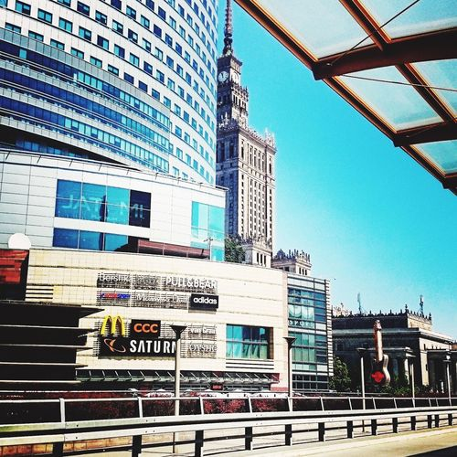 Adapted To The City Blue Sky No Clouds Sunny Day Warsaw Warszawa  Warsaw Poland High Buildings Poland Range Rover Evoque Rover City City Life City Cityscape City View  Architecture No People Sky