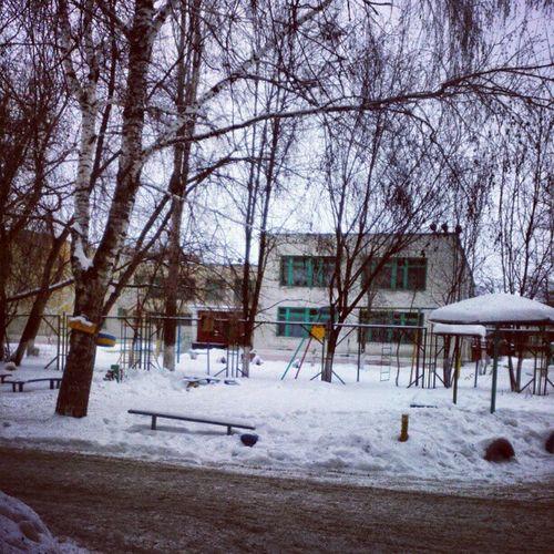 садик детсад зима двор