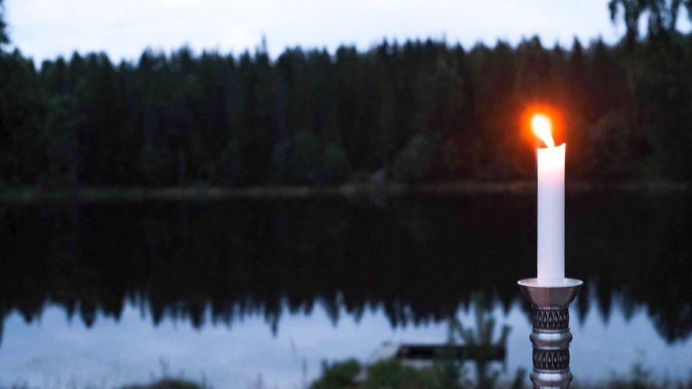 The lake view 🍷 Cooy Space Burning Flame Fire Fire - Natural Phenomenon Candle Focus On Foreground Nature Lighting Equipment Close-up Glowing Heat - Temperature Plant Religion Illuminated Tree Lake Tranquility No People Candlestick Holder Belief