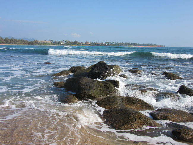 Sea Wave Surf Beach Water Horizon Over Water Rock - Object Nature Beauty In Nature Day No People Shorelines Tranquility Tide Beauty In Nature Rocks And Water Wave