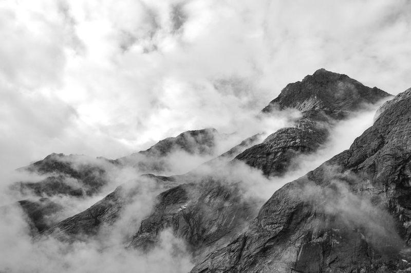 Cloud Cloud - Sky Fog Mountains No People Norway Outdoors Sky Smoke