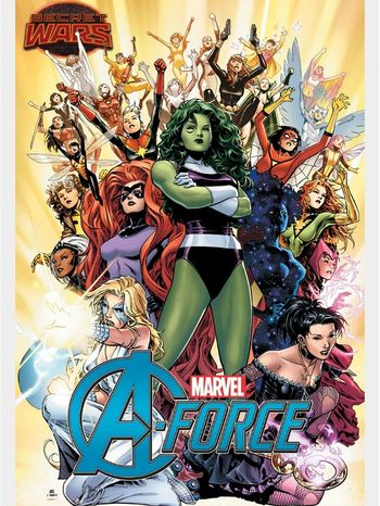 A-Force all female team coming out of Marvel Comics after Secret Wars. Marvel Comics Secretwars Comicbook