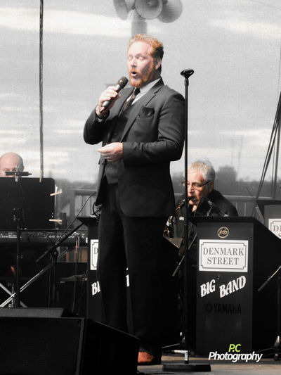 One of the Rat Pack Boys. Bands Big Band Leisure Activity Male Singer Male Vocal Rat Pack Boys Singing Sunderland International Airshow 2016