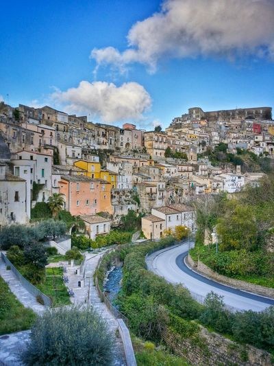 Ragusa Ibla World Heritage Sites Sicily Italy Travel Photography Travel Voyage Traveling Mobile Photography Fine Art Scenic Landscapes Architecture Historical Buildings Sky Clouds Mobile Editing