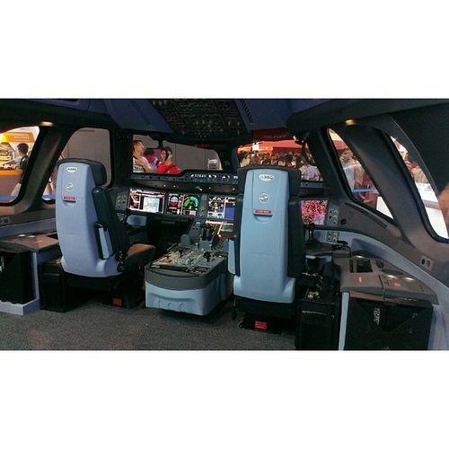 Airbus A350 Cockpit mockup. SA2014 Singaporeairshow2014