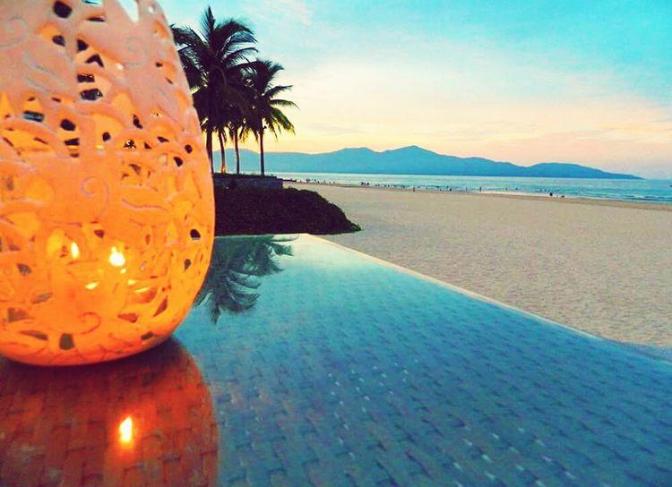 Sea Sea And Sky Sunset Vietnam Danang Danangbeach Lamp Lantern Sunset Hues Hills Sea And Mountain