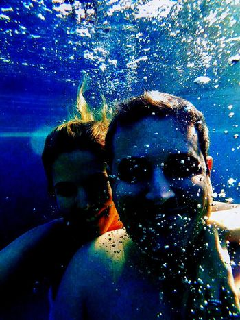 Done That. Togetherness Two People Leisure Activity Water Underwater Photography Love Happiness Iphoneart Lifestyles