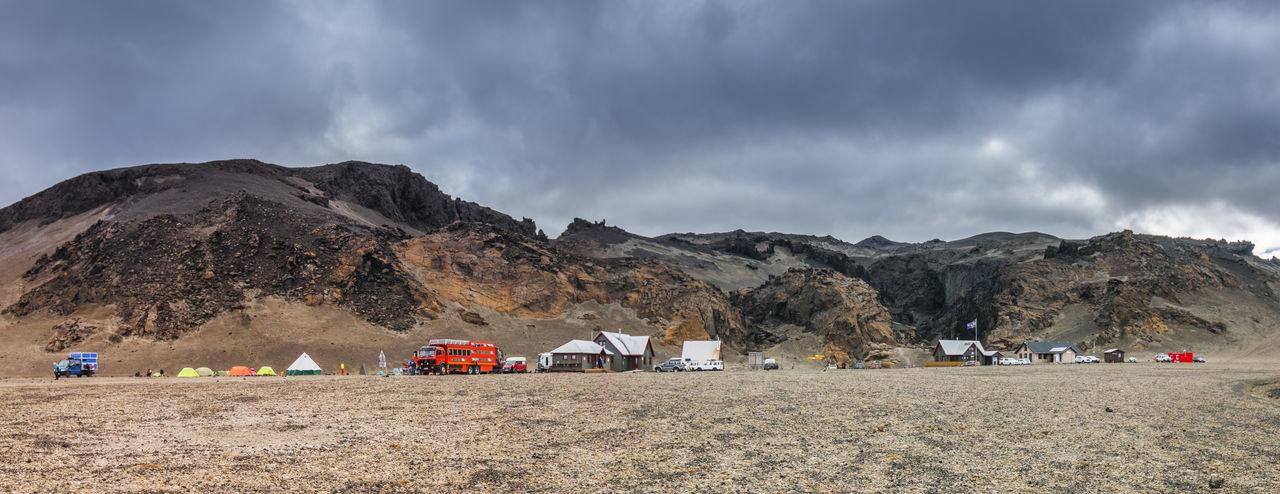 Iceland Odadahraun Askja Beauty In Nature Camping Cloud - Sky Day Island Land Vehicle Landscape Mountain Nature Outdoors Scenics Sky Tent Travel Destinations